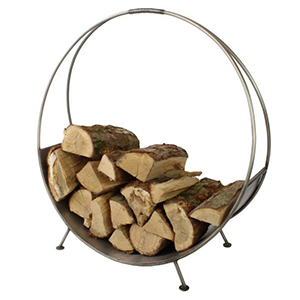 Minster Stoves, stockists of Mansion Circular Log Holder - Pewter