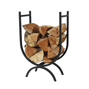 Minster Stoves, stockists of Mansion Curved Log Holder - Black