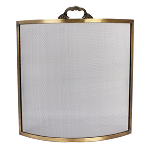 Minster Stoves, stockists of Mansion Georgian Fire Screen - Brass