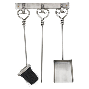 Minster Stoves, stockists of Hill Interiors Hanging Companion Set - Pewter