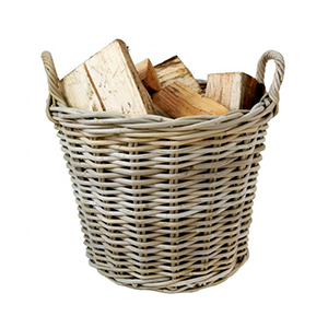 Minster Stoves, stockists of Mansion Kubu Log Basket - Round