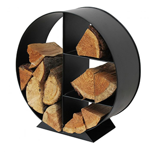 Minster Stoves, stockists of Mansion Combined Log & Kindling Holder - Black