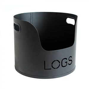 Minster Stoves, stockists of Mansion Metal Log Bucket - Black