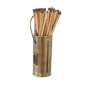 Minster Stoves, stockists of Mansion Matchstick Holder - Brass