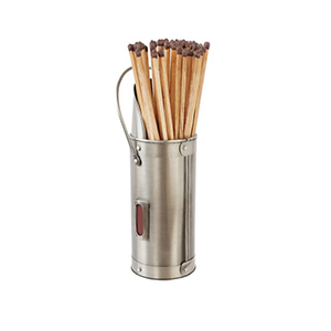 Minster Stoves, stockists of Mansion Matchstick Holder - Pewter
