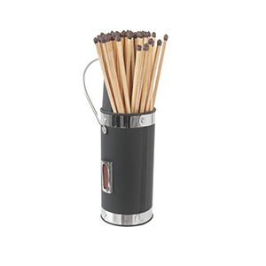 Minster Stoves, stockists of Mansion Matchstick Holder - Silver & Black