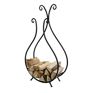Minster Stoves, stockists of Mansion Ornate Log Holder - Black