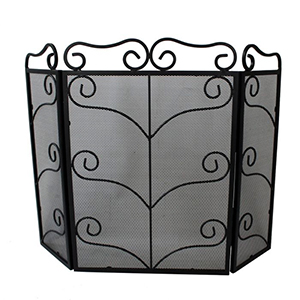 Minster Stoves, stockists of Mansion Scroll Fire Screen - Black