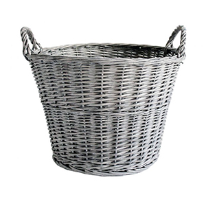 Minster Stoves, stockists of Mansion Willow Log Basket - Grey