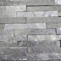 Black Mini Split Faced Slate